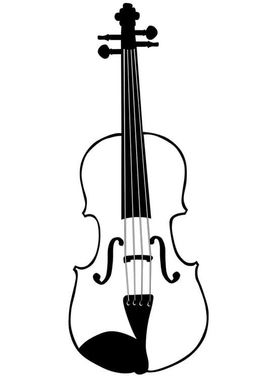 Disegno Da Colorare Violino Cat 10033