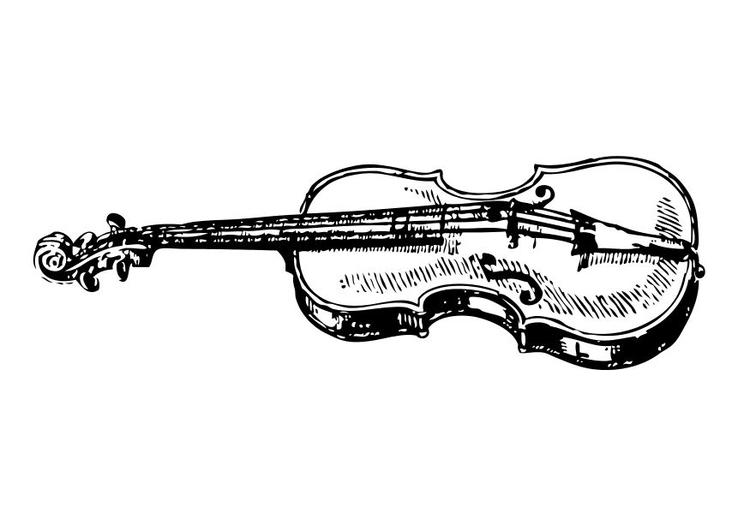 Disegno Da Colorare Violino Cat 10568