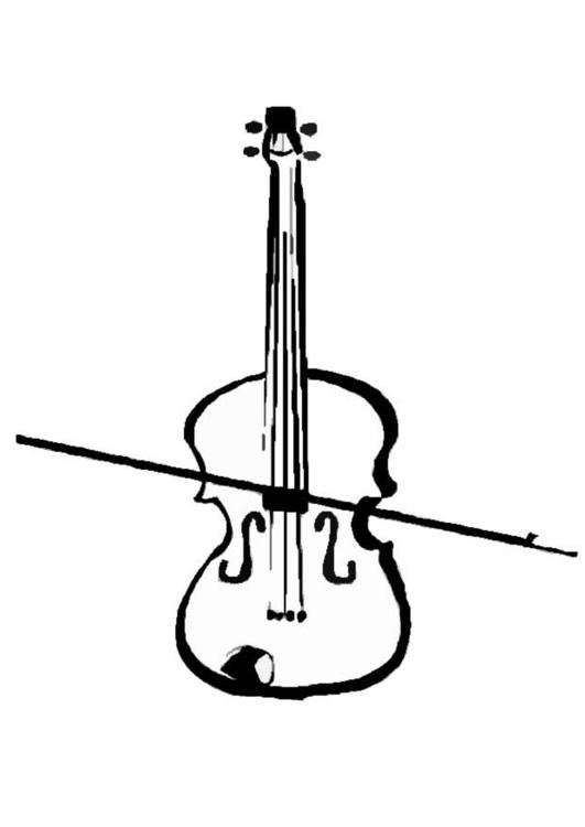 Disegno Da Colorare Violino Cat 8712