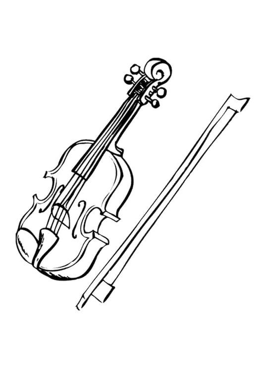 Disegno Da Colorare Violino Cat 9594