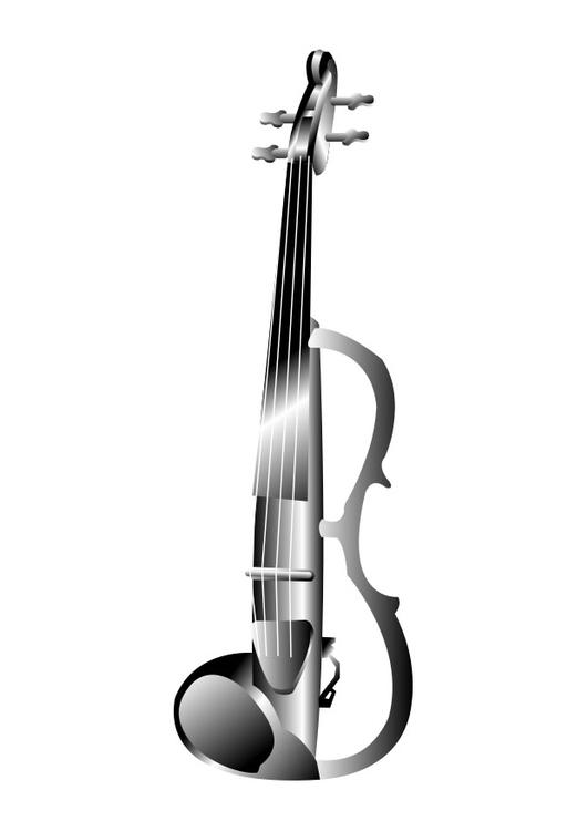 Disegno Da Colorare Violino Elettrico Cat 26285