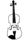 Disegno da colorare violino