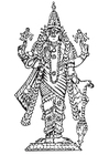 Disegno da colorare Vishnu