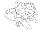 Disegno da colorare vliegtuuig