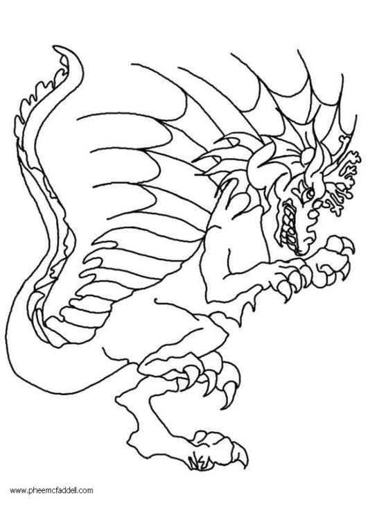 Disegno da colorare Wart il drago