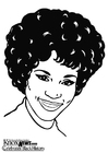 Disegni da colorare Whitney Houston