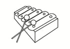 Disegno da colorare xilofono