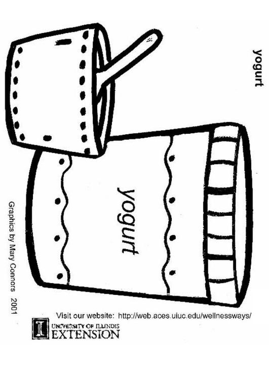 Frozen Yogurt Coloring Pages : Free coloring pages of yoghurt