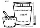 Disegno da colorare yoghurt