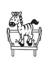 Disegno da colorare zebra
