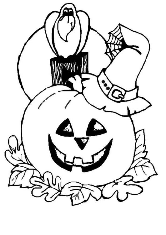 Disegno Da Colorare Zucca Halloween Cat 8629