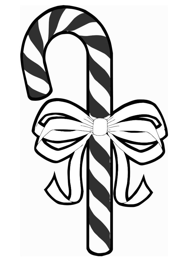 Kleurplaat Kerst Disegno Da Colorare Zucchero Con Fiocco Disegni Da