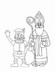 Disegno da colorare Zwarte Piet e San Nicola