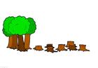 immagine abbattimento degli alberi