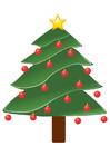 immagine albero di Natale con palline