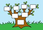immagine albero genealogico vuoto
