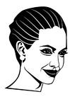 Disegno da colorare Angelina Jolie