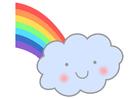 immagine arcobaleno con nuvola