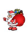 immagine Babbo Natale con giocattoli