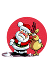 immagine Babbo Natale e renna