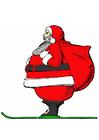 immagine Babbo Natale sugli sci