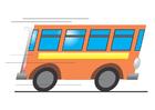 immagine bus in movimento