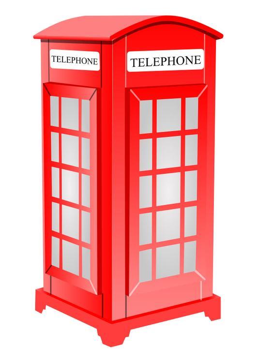 Immagine illustrazione cabina telefonica inglese for Cabina telefonica inglese arredamento