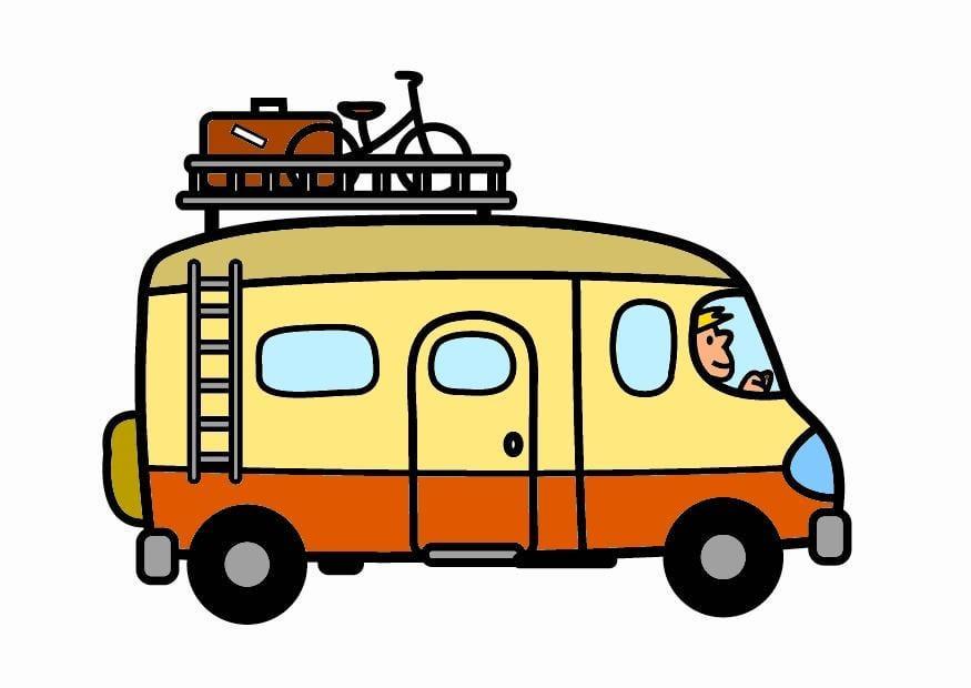 Immagine illustrazione camper immagini per uso for Disegni di garage rv
