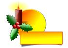 immagine candela natalizia