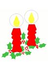 immagine candele natalizie
