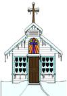 immagine chiesa in inverno