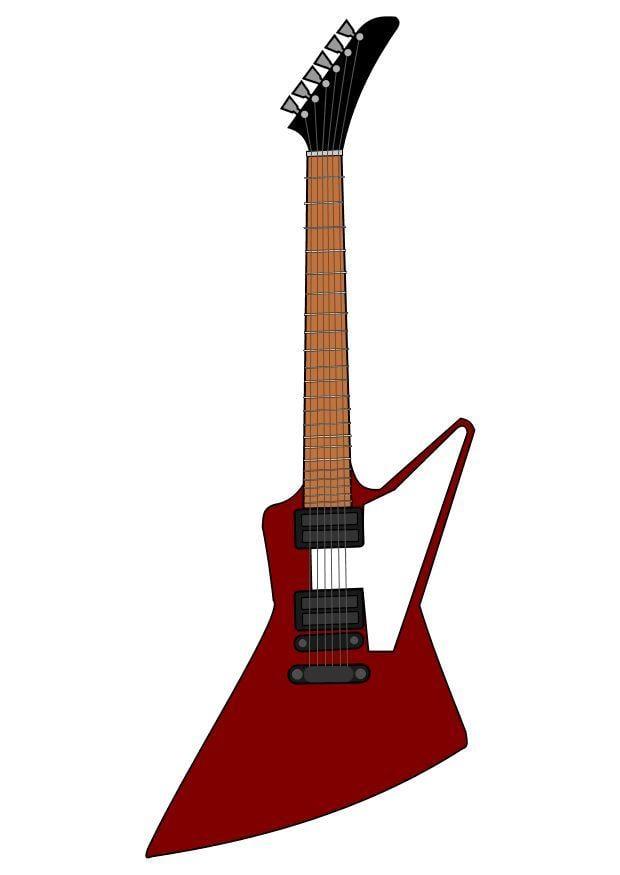 Immagine Illustrazione Chitarra Elettrica Gibson Immagini Per