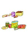 immagine cibo sano e non sano