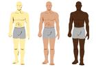 immagine colori della pelle