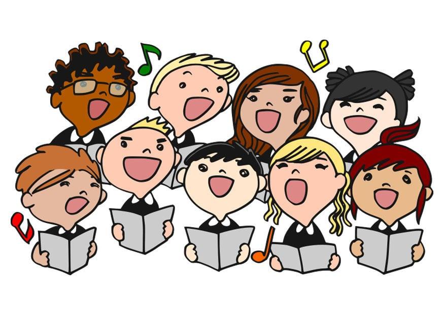 Immagine illustrazione coro di bambini immagini per for Scarica clipart