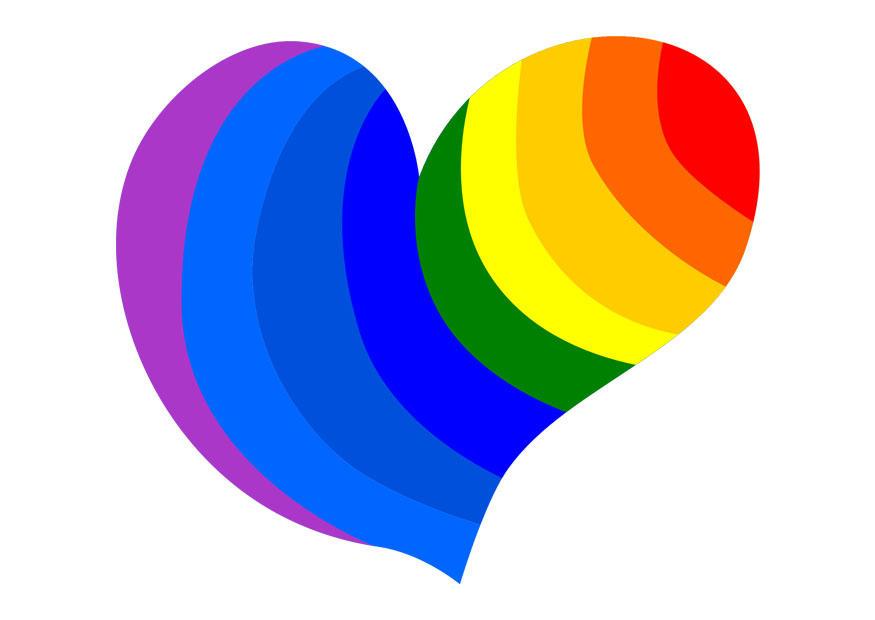 Immagine Illustrazione Cuore Arcobaleno Immagini Per