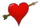 immagine cuore con freccia