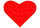 immagine cuore puzzle