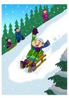 immagine divertimento nella neve