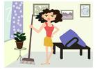 immagine donna delle pulizie