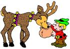 immagine elfo con renna