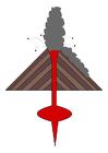 immagine eruzione di un vulcano