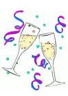 immagine flute per lo champagne