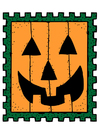 immagine francobollo da Halloween