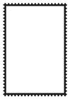Disegno da colorare francobollo
