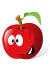 immagine frutta - mela rossa