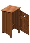 immagine gabinetto esterno - porta aperta