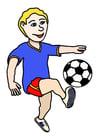 immagine giocare a calcio