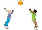 immagine giocare con la palla