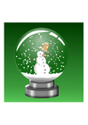 immagine globo con neve